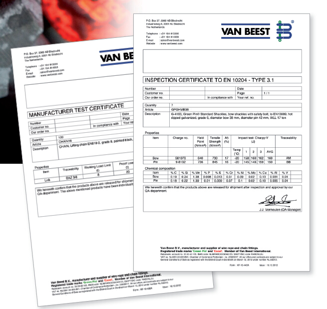 Van Beest implements a new certificates database − Products − LRW ...